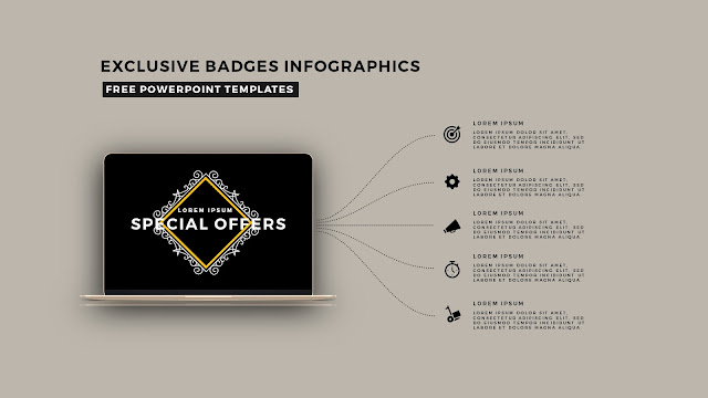 Infographic Badges Free PowerPoint Template for Special Offers Slide 11