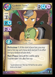 My Little Pony Quibble Pants, Nonbeliever Defenders of Equestria CCG Card