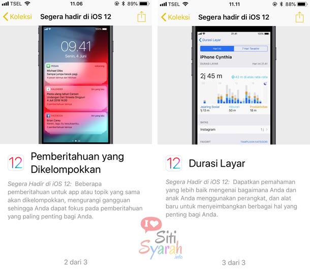 fitur terbaru di iOS12