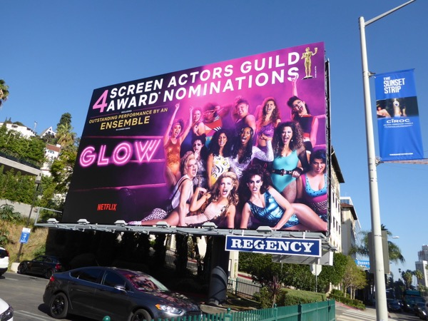GLOW season 1 SAG Awards billboard