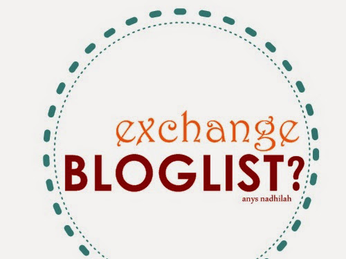 Who want to exchange bloglist with me?