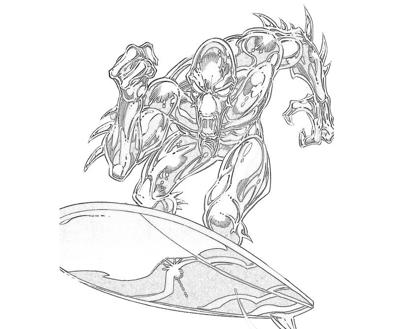 Silver Surfer - Free Coloring Pages