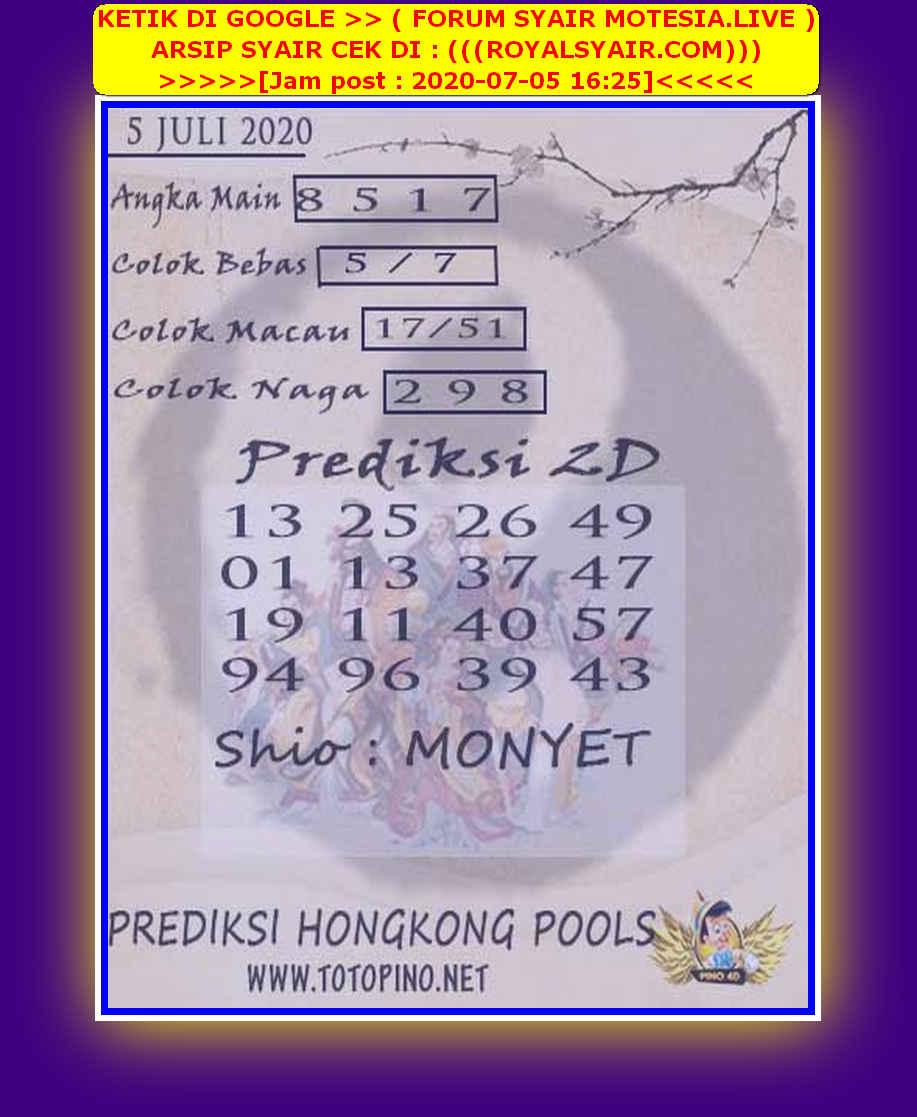Kode syair Hongkong Minggu 5 Juli 2020 144