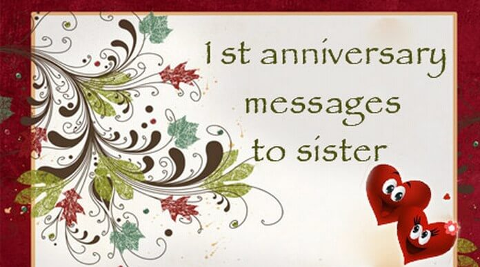 Happy anniversary wishes for sister with amazing love