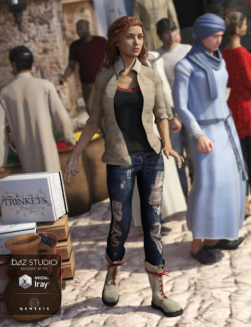 Adventure Outfit for Genesis 3 Female