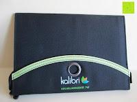 geschlossen: Kalibri® Solar Ladegerät für umweltfreundliches Laden von Smartphone, Tablet, iPhone und iPad