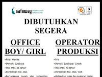 lowongan kerja office boy dan operator produksi gaya sukses mandiri