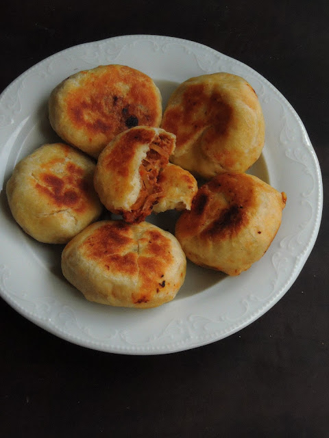 Mini Soya Masala Buns, Pan Fried Soya Masala Buns.jpg