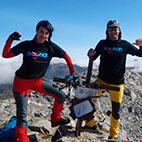 En la cima del Pico Espigüete