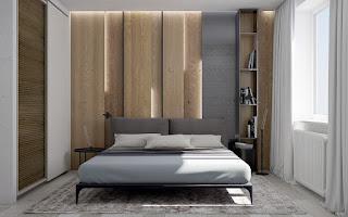 Kamar tidur menerima rating tertinggi sebagai kawasan favorit di rumah yang sebagian besar  40 Desain Dinding Kayu Kamar Tidur Bernuansa Elegan