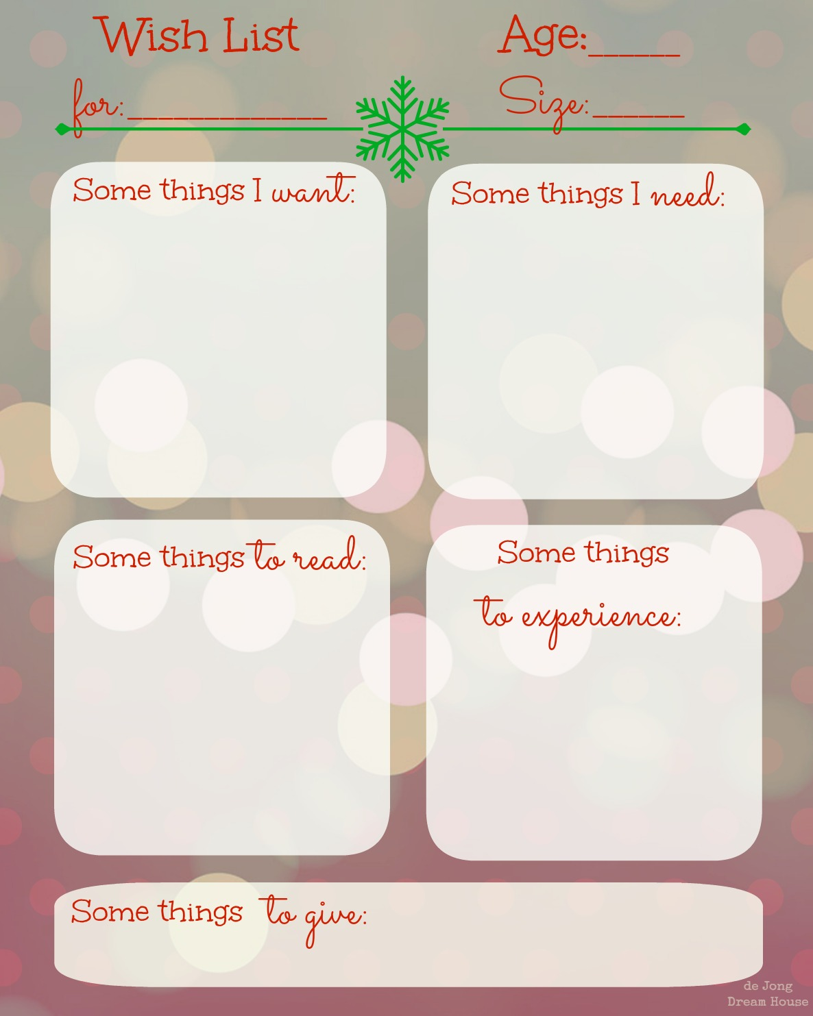 image relating to Christmas Wish List Printable named de Jong Aspiration Room: The December Checklist: free of charge Xmas