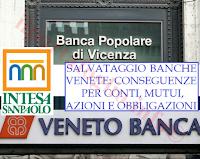 salvataggio banche venete: conseguenze su conti, obbligazioni, mutui, prestiti