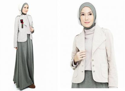 Baju kerja blazer muslim cantik tren 2015