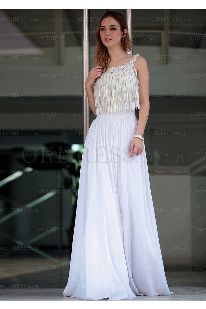 Captivating Chiffon Floor-length Scoop A-line Evening Dresses