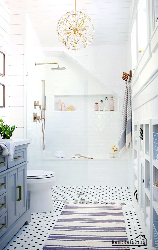 small master bathroom makeover - Vintage modern
