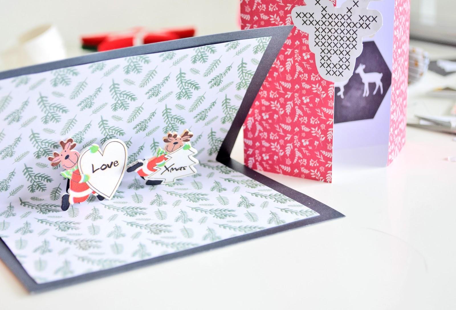 Kartki na Świeta Bożego Narodzenia.