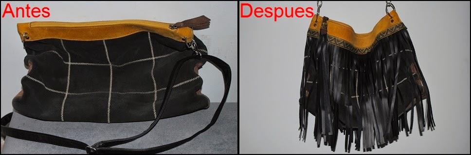 DIY bolso con flecos