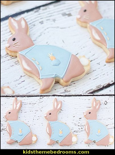 PETER RABBIT COOKIE CUTTERS RABBIT THEMED PARTY   Peter Rabbit party supplies - Peter Rabbit Party Ideas - Peter Rabbit Party Theme  decorations - Peter Rabbit birthday party decorations - Peter Rabbit spring garden party decorating - garden party - Carrots Chocolate Candy molds  -  Carrot cake cookie molds - flower decorations - bunny party sweets - bunny party supplies