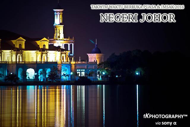 Takwim Waktu Berbuka Puasa & Imsak 2016 Negeri Johor