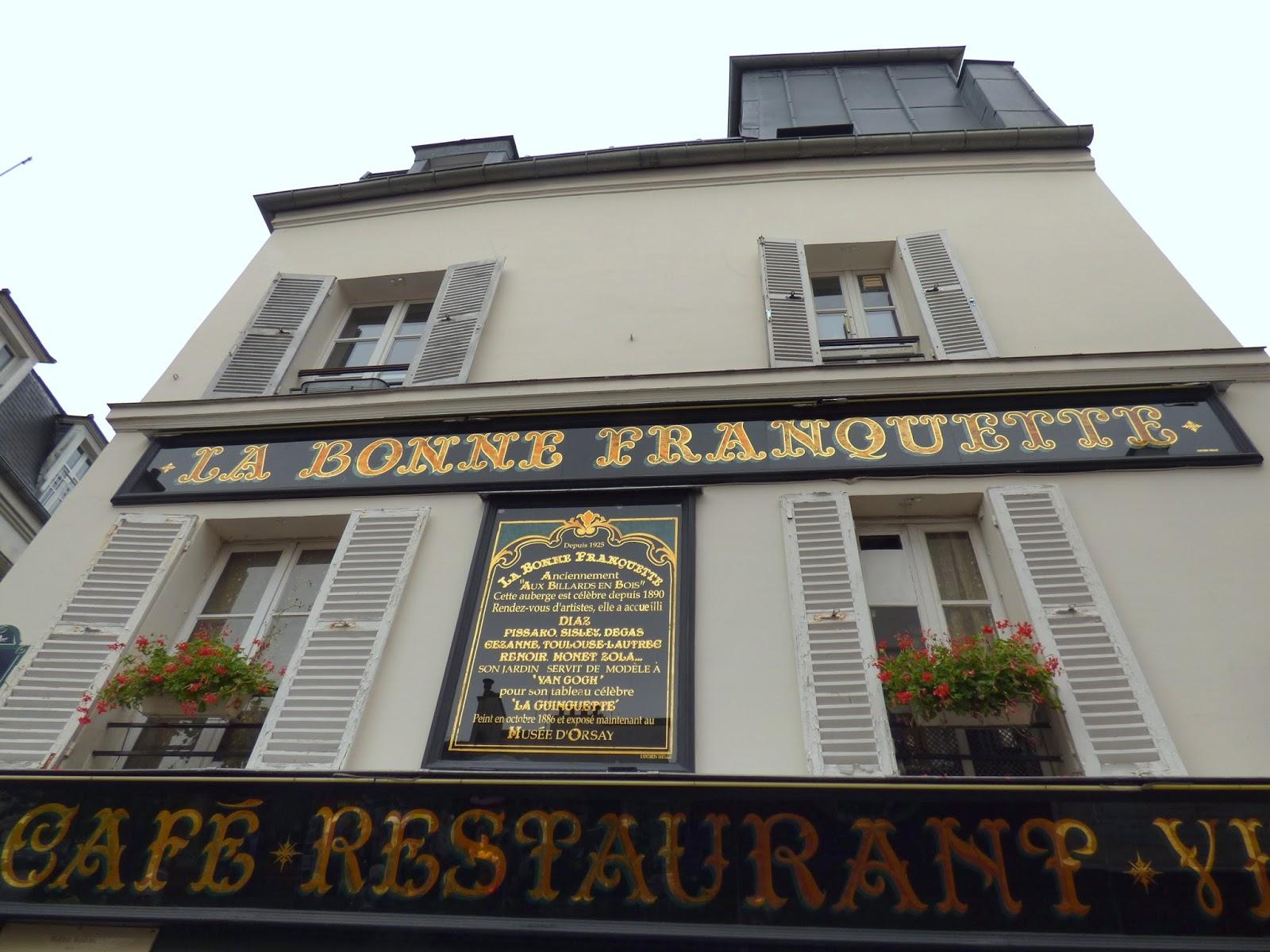 Tartempion Restaurants Place Du Tertre Paris