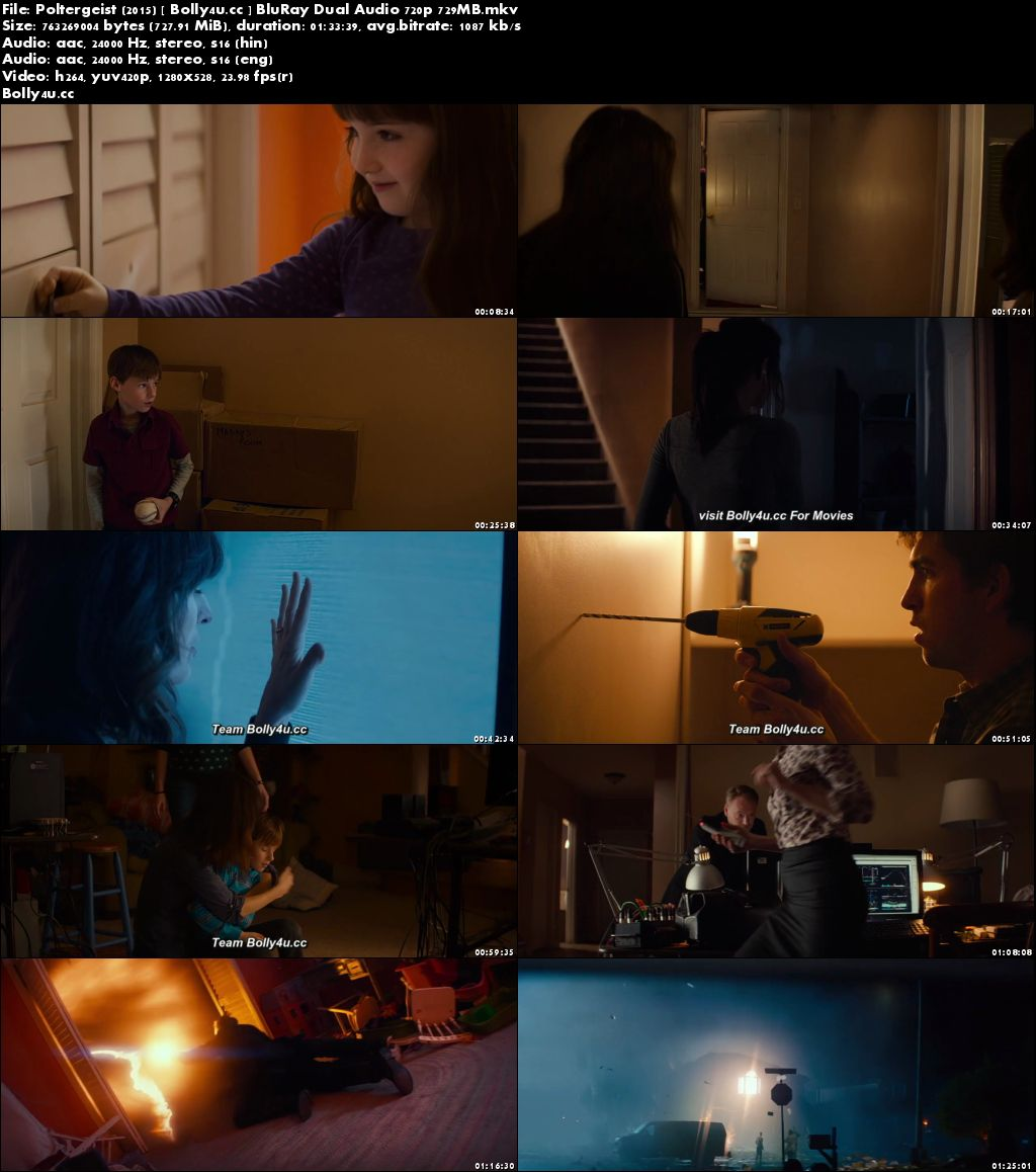 Poltergeist 2015 BluRay 300MB Hindi Dual Audio 480p Download