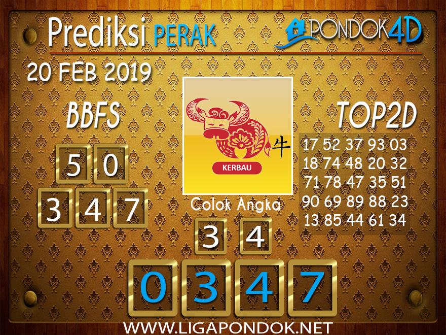 Prediksi Togel PERAK PONDOK4D 20 FEBRUARI 2019