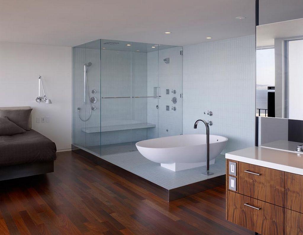 Bagno Moderno Con Parquet.Parquet Doussie Arredamento Moderno Top Elegant Parquet In Rovere