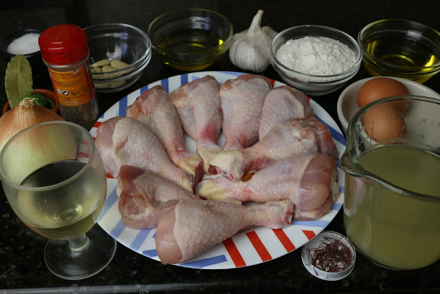 Ingredientes para pollo a la andaluza