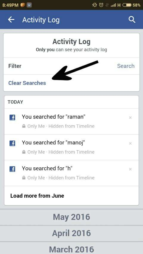 Facebook search history kaise Delete kare | K&M