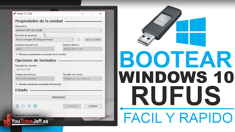 Como Bootear Windows 10 en USB con Rufus