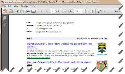 A PDF file containing the output of the converted .eml html email messages.