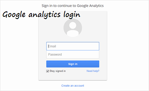 analytics sign up and Installation in wordpress step 1