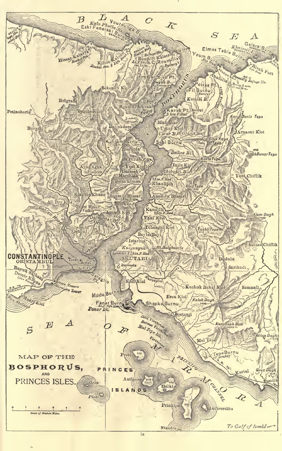 1887 a map of bosphorus