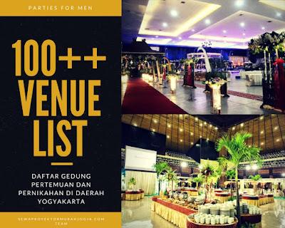 tempat atau venue ruangan serta gedung pernikahan dan pertemuan di daerah istimewa yogyakarta