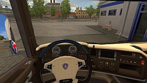 Brown Cream interior for Scania Streamline
