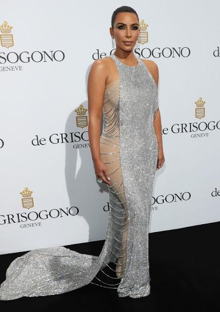 kim kardashian silver dress cannes