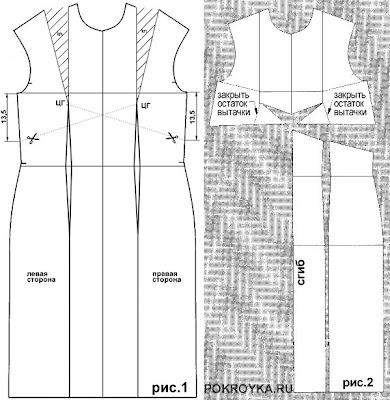 Платье с рельефом годе