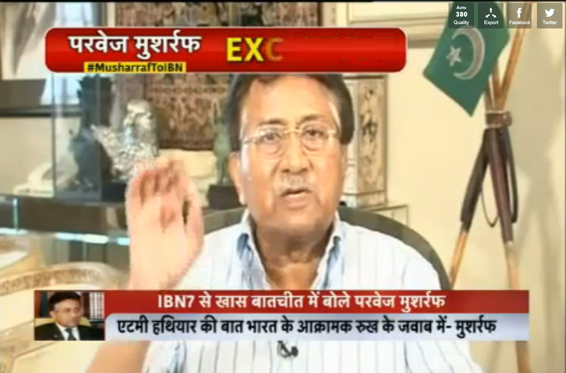 Musharaf reply to indian news anchor
