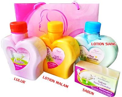 Isi paket lulur susu domba pemutih kulit tubuh tangan dan kaki dengan maksimal