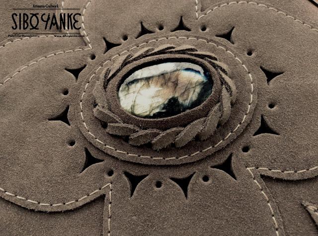 Leather Bag Bohemian with LABRADORITE, Boho Bag by Sibo Yanke. HANDMADE, Bohostyle, beauty, fashion, Bohochic