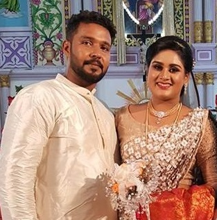Actress Dimple Rose married Anson Francis | wedding & reception Photos
