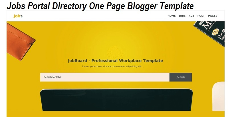 Jobs Portal Directory Blogger Template Free Download