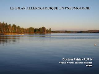LE BILAN ALLERGOLOGIQUE EN PNEUMOLOGIE