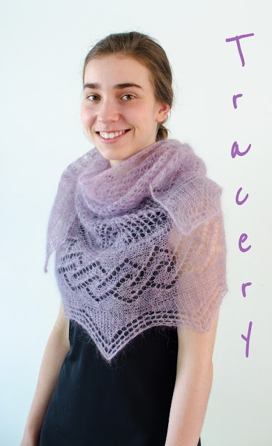 tracery, a gorgeous mohair lace shawl pattern
