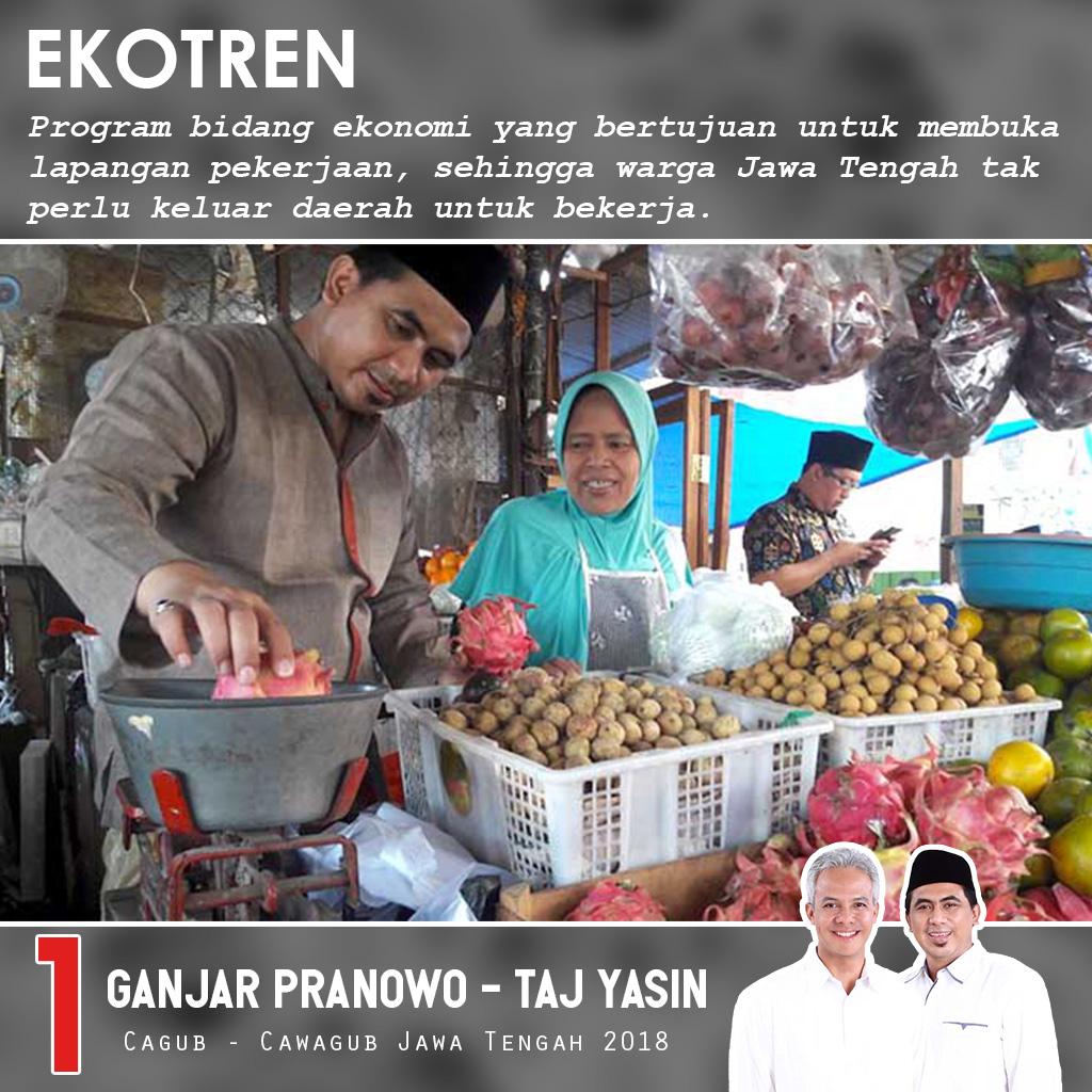 Ganjar Mengusung Program EkoTren Untuk Jateng