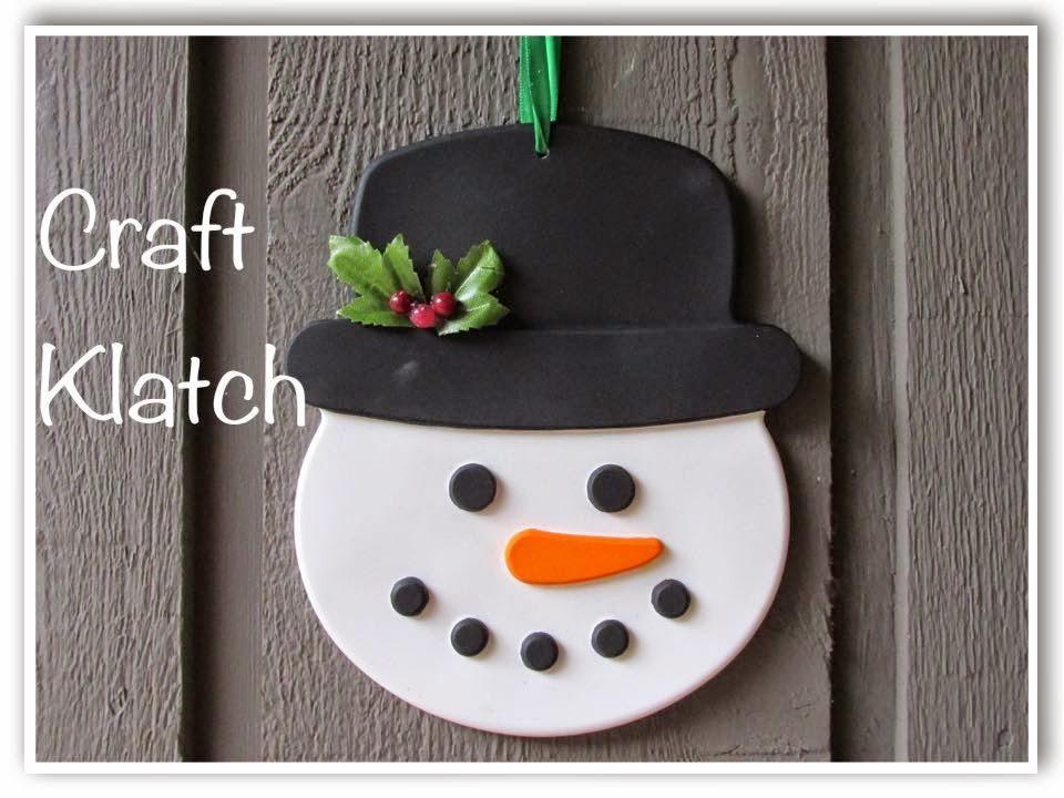 Craft Klatch Big Resin Snowman Decoration Diy