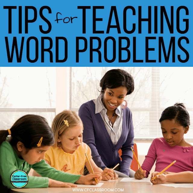 Math word problems can be so hard for elementary students. Grab these tips for teaching this challenging topic to first, second, third, fourth, and fifth grade students. #wordproblems #mathwordproblems #teachingideas #teachingstrategies #elementarymath #realworldmath