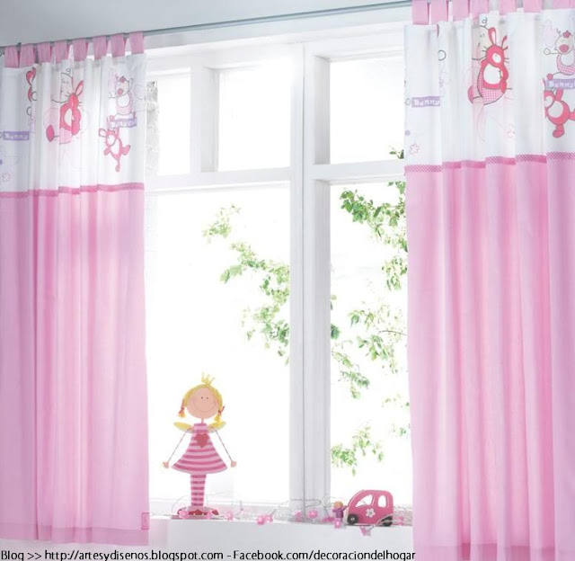 Cortinas para dormitorios de bebes decoraci n del hogar - Telas para cortinas infantiles ...