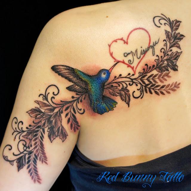 ハチドリ 鳥 刺青 タトゥー TATTOO