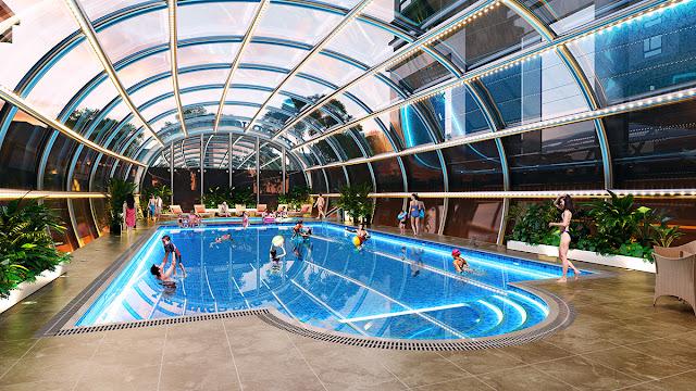 Bể bơi bốn mùa tại Việt Đức Complex